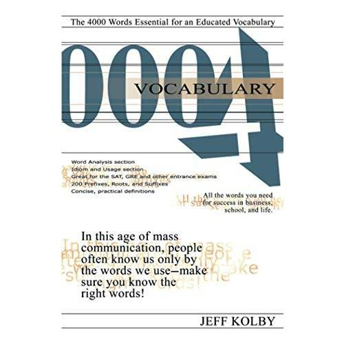 Jeff Kolby - Vocabulary 4000: The 4000 Words Essential for an Educated Vocabulary - Preis vom 13.06.2021 04:45:58 h
