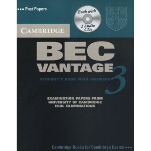 Cambridge ESOL - Cambridge BEC Vantage 3 Self Study Pack (Cambridge Books for Cambridge Exams) - Preis vom 18.06.2021 04:47:54 h