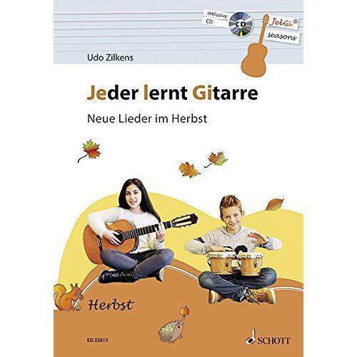 Udo Zilkens - Jeder lernt Gitarre - Neue Lieder im Herbst: JelGi-Liederbuch für allgemein bildende Schulen. Gitarre. Lehrbuch mit CD. - Preis vom 18.06.2021 04:47:54 h