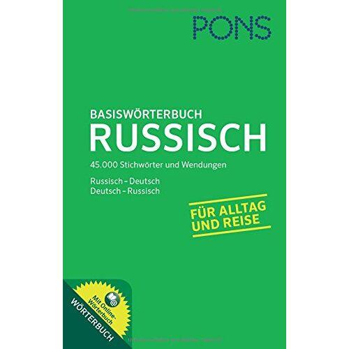 - PONS Basiswörterbuch Russisch: Russisch-Deutsch/Deutsch-Russisch. Mit Online-Wörterbuch - Preis vom 11.10.2021 04:51:43 h