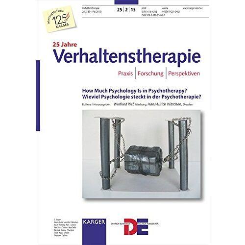 W. Rief - How Much Psychology Is in Psychotherapy? / Wieviel Psychologie steckt in der Psychotherapie?: 9. Workshopkongress, Dresden, Mai 2015. Special Topic Issue: Verhaltenstherapie 2015, Vol. 25, No. 2 - Preis vom 29.07.2021 04:48:49 h