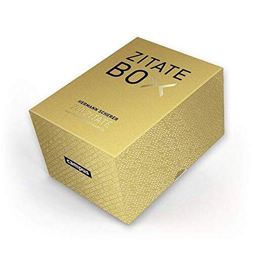 Hermann Scherer - Goldene Zitate-Box: 200 Zitate im Postkartenformat - Preis vom 22.06.2021 04:48:15 h