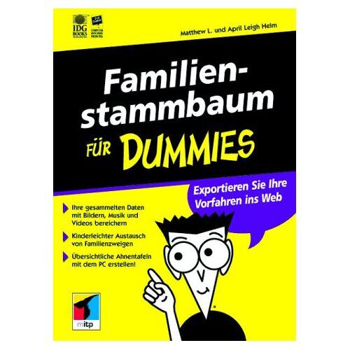 Helm, Matthew L. - Familienstammbaum für Dummies - Preis vom 20.06.2021 04:47:58 h