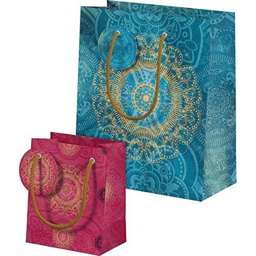 - Der Zauber Indiens Geschenktüten-Set Motiv Blaues Ornament: Zwei Geschenktüten im Set - Preis vom 24.07.2021 04:46:39 h