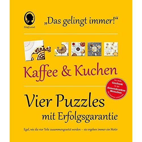 SingLiesel Verlag - Das Gelingt-immer-Puzzle Kaffee und Kuchen: Frustfrei puzzlen! - Preis vom 18.06.2021 04:47:54 h
