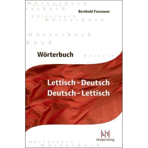 Berthold Forssmann - Wörterbuch Lettisch-Deutsch, Deutsch-Lettisch - Preis vom 09.06.2021 04:47:15 h