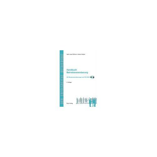 Eichhorn, Heinz J - Handbuch Betriebsvereinbarung: Mit zahlreichen Mustervereinbarungen auf CD-ROM - Preis vom 21.06.2021 04:48:19 h