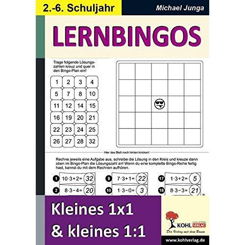 Michael Junga - LERNBINGOS: Kleines 1x1 und kleines 1:1 - Preis vom 23.07.2021 04:48:01 h