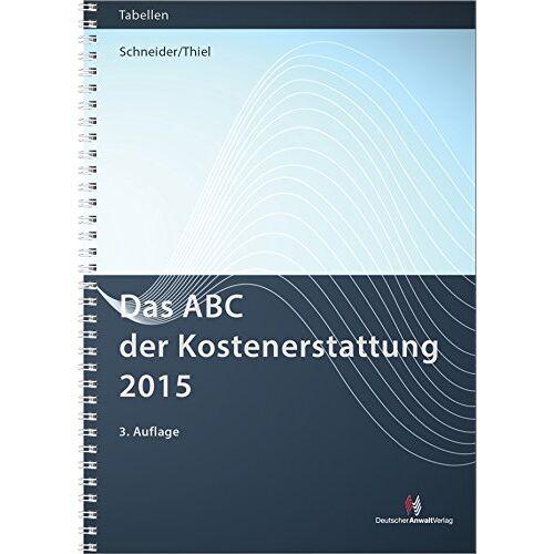 Norbert Schneider - Das ABC der Kostenerstattung 2016 (Sonstige Tabellen) - Preis vom 20.06.2021 04:47:58 h