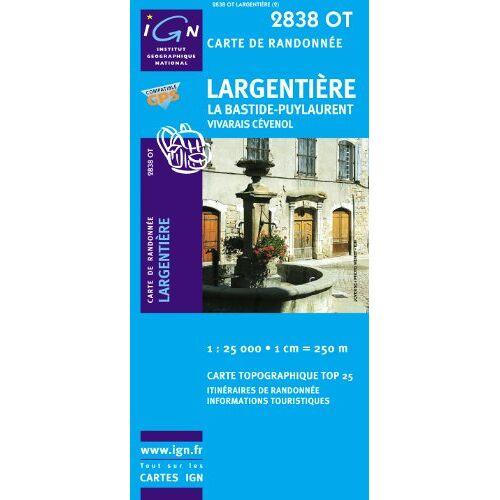 IGN - Largentiere / La Bastide-Puylaurent - Vivarais Cévenol 1 : 25 000 - Preis vom 15.06.2021 04:47:52 h