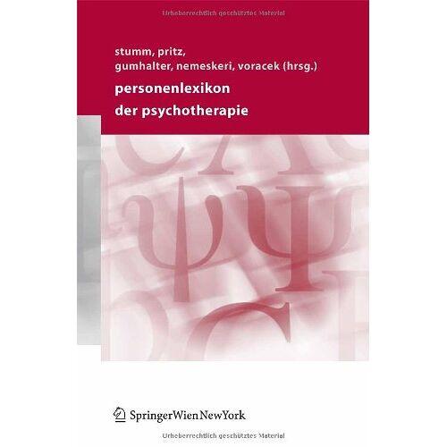 Gerhard Stumm - Personenlexikon der Psychotherapie - Preis vom 30.07.2021 04:46:10 h