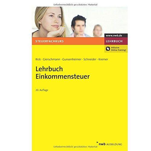 Eberhard Rick - Lehrbuch Einkommensteuer - Preis vom 17.05.2021 04:44:08 h