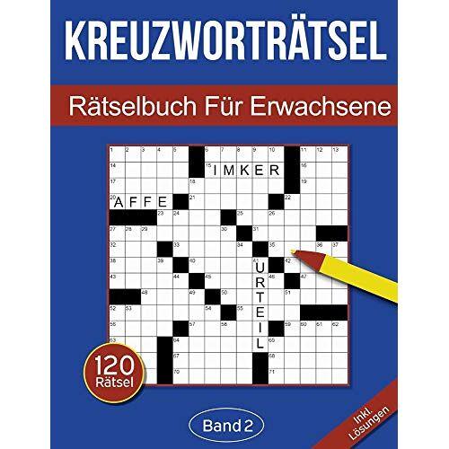 Rosenbladt - Kreuzworträtsel - Rätselbuch für Erwachsene: Kreuzworträtselbuch für Erwachsene mit 120 Kreuzworträtseln - Band 2 - Preis vom 11.10.2021 04:51:43 h