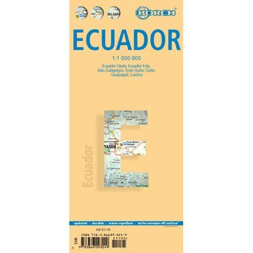Borch - Ecuador 1 : 1 000 000. Einzelkarten: Ecuador Oeste, Ecuador Este, Islas Galapagos, Gran Quito, Guenca, Guayaquil - Preis vom 17.06.2021 04:48:08 h