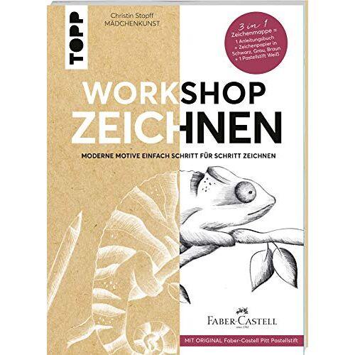 Christin Stapff - Workshop Zeichnen: Moderne Motive Schritt für Schritt zeichnen. Mit Original Faber Castell Pitt Pastellstift - Preis vom 20.09.2021 04:52:36 h