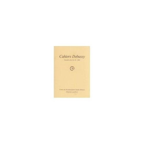 Cahiers Debussy * - Cah.debussy/n*10 nlle ser. 041093 - Preis vom 16.06.2021 04:47:02 h