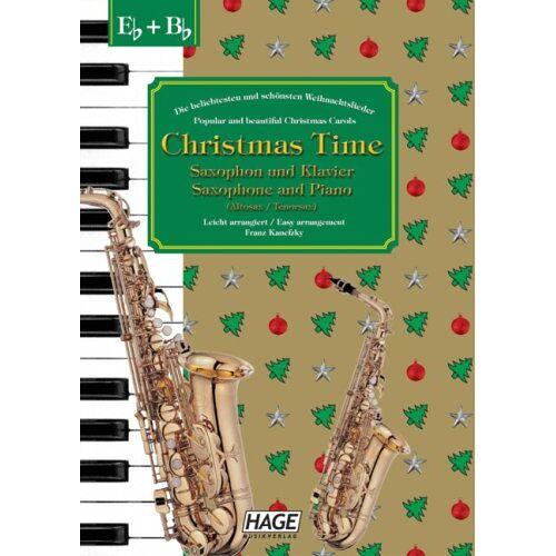 Helmut Hage - Christmas Time, 37 bekannte Weihnachtslieder für Saxophon und Klavier - Preis vom 16.06.2021 04:47:02 h