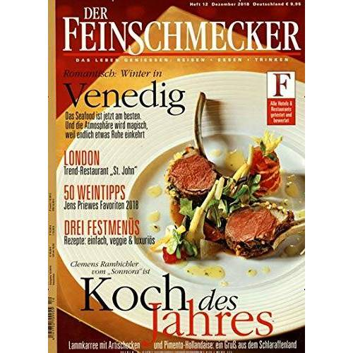 Der Feinschmecker - Der Feinschmecker 12/2018 Koch des Jahres - Preis vom 09.06.2021 04:47:15 h