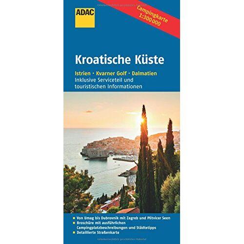 ADAC Verlag GmbH & Co KG - ADAC Campingkarte Kroatische Küste (ADAC Campingführer) - Preis vom 15.06.2021 04:47:52 h