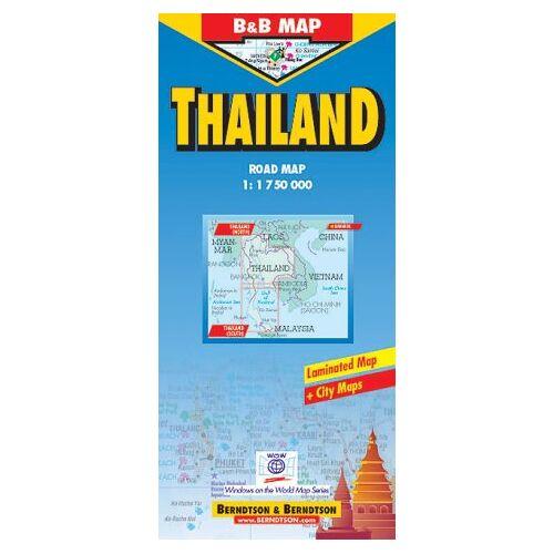 - B & B Map, Thailand 1:1.75 Mio. Road Map. - Preis vom 13.10.2021 04:51:42 h