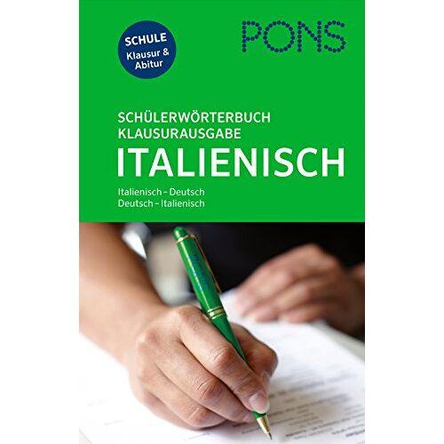 - PONS Schülerwörterbuch Klausurausgabe Italienisch: Italienisch-Deutsch / Deutsch-Italienisch - Preis vom 12.10.2021 04:55:55 h