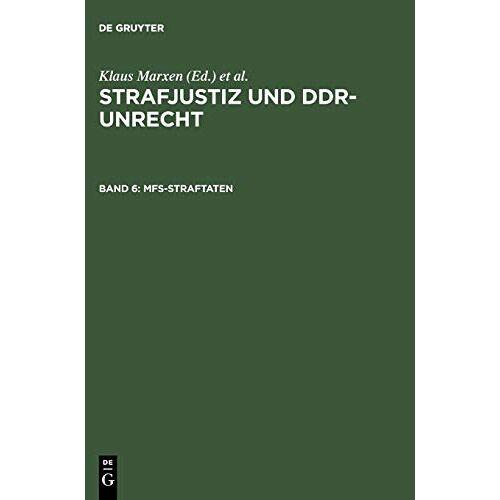 - Strafjustiz und DDR-Unrecht: MfS-Straftaten - Preis vom 19.06.2021 04:48:54 h