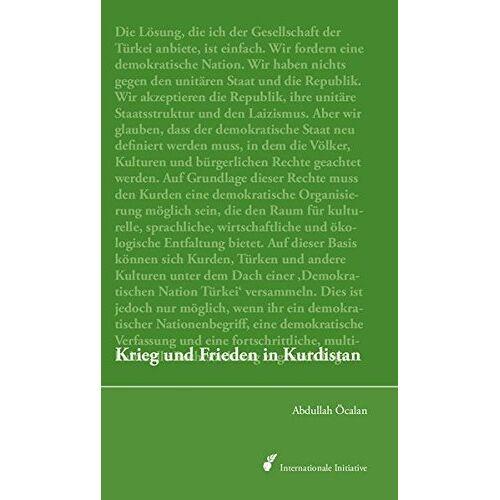 Abdullah Öcalan - Krieg und Frieden in Kurdistan: Perspektiven für eine politische Lösung der kurdischen Frage - Preis vom 18.06.2021 04:47:54 h