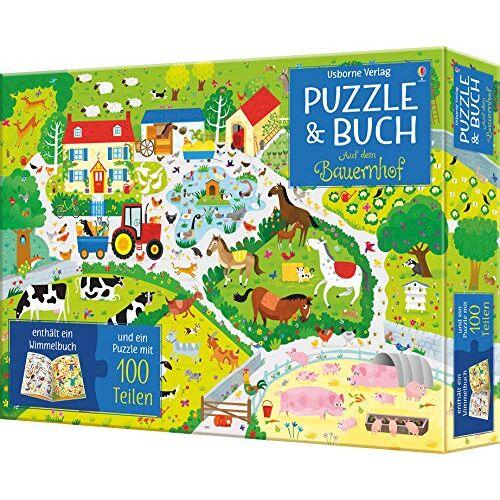 - Puzzle & Buch: Auf dem Bauernhof: enthält ein Wimmelbuch und ein Puzzle mit 100 Teilen - Preis vom 20.06.2021 04:47:58 h