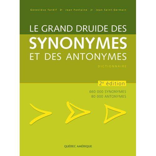 Tardif Genevieve - Grand Druide Synonymes Antonymes - Preis vom 12.06.2021 04:48:00 h