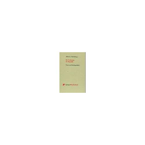 Noll, Alfred J. - Die Verfassung der Republik: Zentrale Fragen der Verfassung und des Verfassungslebens - 75 Jahre Bundesverfassung (Texte Zur Rechtspolitik) - Preis vom 22.06.2021 04:48:15 h