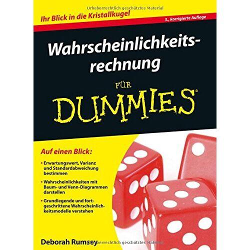 Rumsey, Deborah J. - Wahrscheinlichkeitsrechnung für Dummies - Preis vom 11.06.2021 04:46:58 h