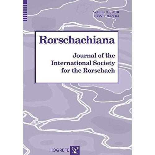 Sadegh Nashat - Rorschachiana. Yearbook of the International Rorschach Society / Rorschachiana: Journal of the International Society for the Rorschach, Vol. 31 - Preis vom 19.06.2021 04:48:54 h