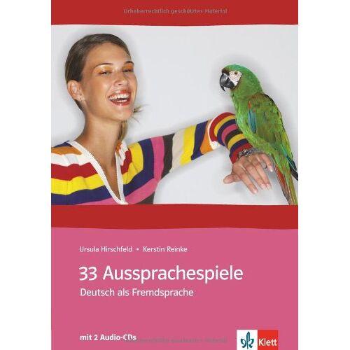 Ursula Hirschfeld - 33 Aussprachespiele: Deutsch als Fremdsprache mit 2 Audio-CDs - Preis vom 09.06.2021 04:47:15 h