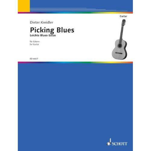 Dieter Kreidler - Picking Blues: Leichte Blues-Sätze. Gitarre. - Preis vom 11.06.2021 04:46:58 h