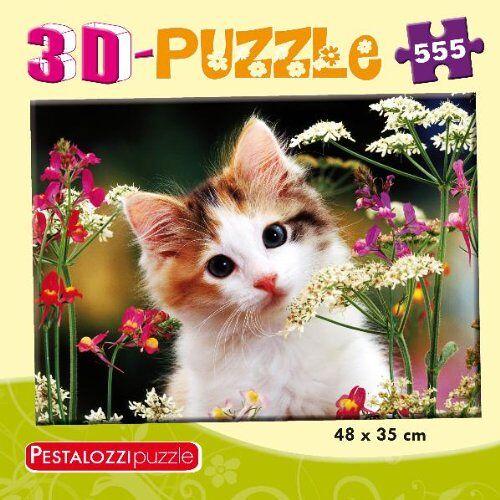 - 3D-Puzzle Katze: 555 Teile (PestalozziPuzzle) - Preis vom 23.09.2021 04:56:55 h