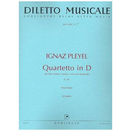 - Quartett d-Dur. Flöte, Violine, Violine, Viola, Violoncello - Preis vom 13.06.2021 04:45:58 h