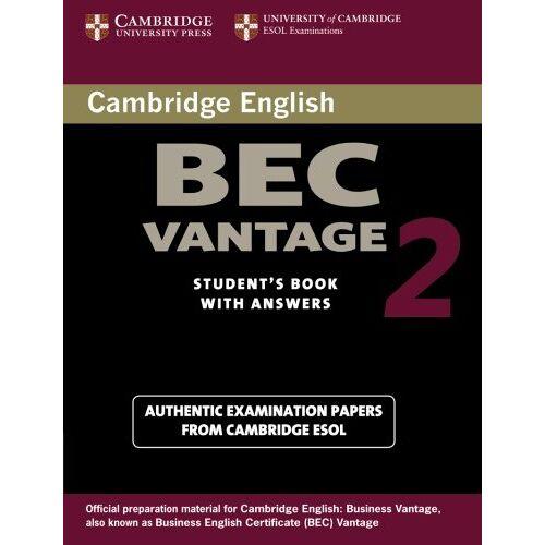Cambridge ESOL - Cambridge Bec Vantage 2: Examination Papers from University of Cambridge ESOL Examinations (Cambridge Books for Cambridge Exams) - Preis vom 18.06.2021 04:47:54 h