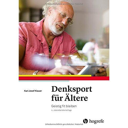 Klauer, Karl Josef - Denksport für Ältere: Geistig fit bleiben - Preis vom 16.06.2021 04:47:02 h