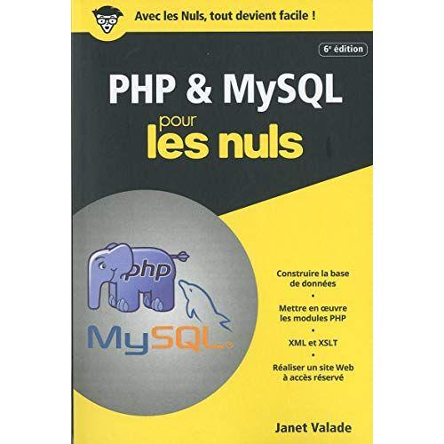 - PHP et MYSQL poche pour les nuls - Preis vom 18.06.2021 04:47:54 h