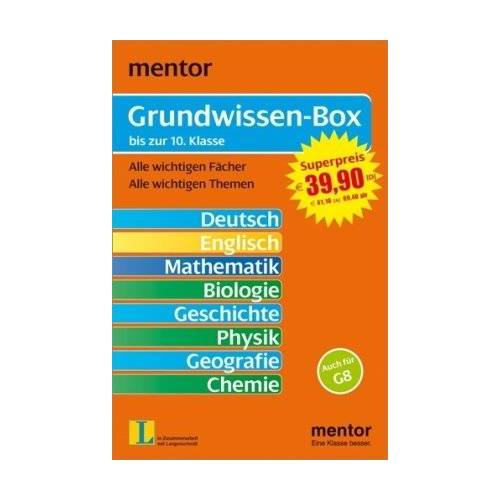 - Mentor Grundwissen-Box - 8 Grundwissen-Bände im Schuber (Lernmaterialien) - Preis vom 18.06.2021 04:47:54 h