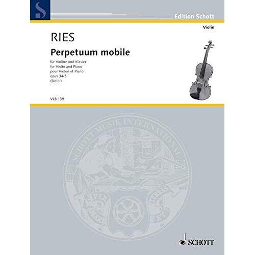 Ida Bieler - Perpetuum mobile: op. 34/5. Violine und Klavier. (Edition Schott) - Preis vom 21.06.2021 04:48:19 h