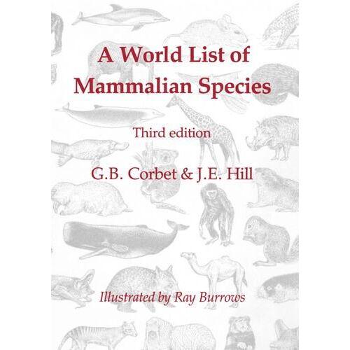 Corbet, G. B. - A World List of Mammalian Species - Preis vom 16.06.2021 04:47:02 h