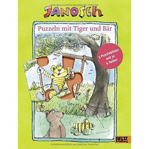 Janosch - Puzzeln mit Tiger und Bär: Mit fünf 6-teiligen Puzzles - Preis vom 14.06.2021 04:47:09 h