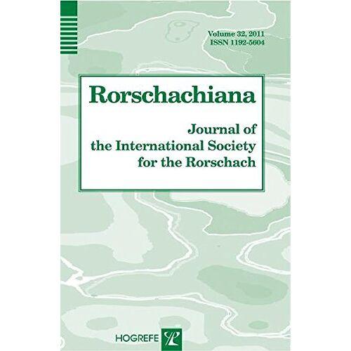 Sadegh Nashat - Rorschachiana. Yearbook of the International Rorschach Society / Rorschachiana: Journal of the International Society of the Roschach (Journal of the International Society for the Rorschach) - Preis vom 19.06.2021 04:48:54 h