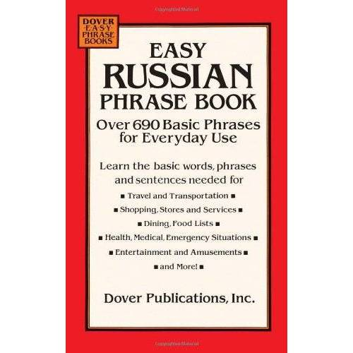 Dover Publications Inc - Easy Russian Phrase Book: Over 690 Basic Phrases for Everyday Use (Dover Easy Phrase Books) - Preis vom 20.06.2021 04:47:58 h
