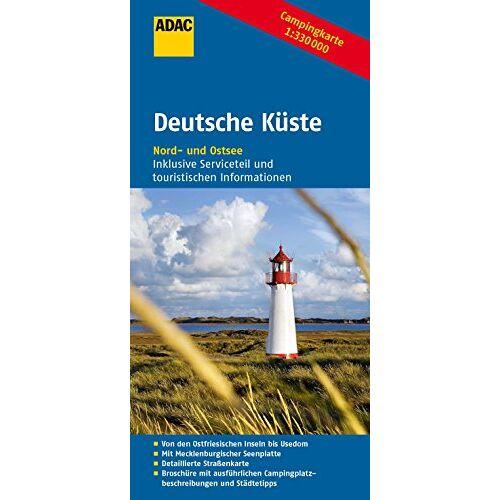 - ADAC Campingkarte Deutsche Küste (ADAC Campingführer) - Preis vom 15.06.2021 04:47:52 h