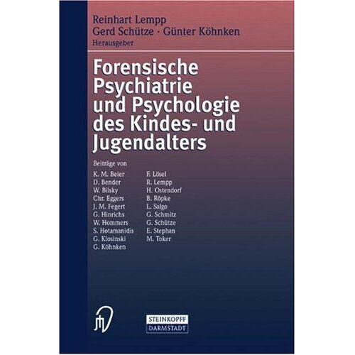 R. Lempp - Forensische Psychiatrie und Psychologie des Kindes- und Jugendalters - Preis vom 29.07.2021 04:48:49 h
