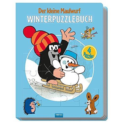 Trötsch Verlag - Winter-Puzzlebuch Der kleine Maulwurf: 4 Puzzle, 24-teilig - Preis vom 16.06.2021 04:47:02 h