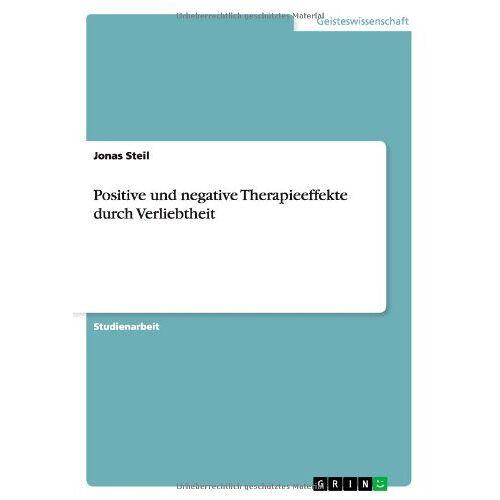 Jonas Steil - Positive und negative Therapieeffekte durch Verliebtheit - Preis vom 11.10.2021 04:51:43 h