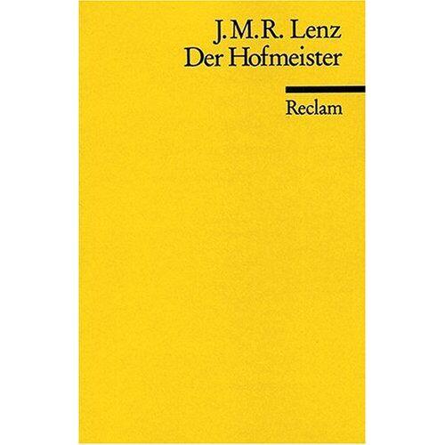 Lenz, Jakob M - Der Hofmeister - Preis vom 19.06.2021 04:48:54 h